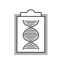 Paper clipboard with dna molecule vector