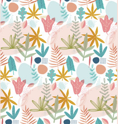 Pretty painted flowers background vector