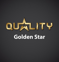 quality golden star inscription icon vector image