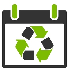 Recycle calendar day flat icon vector
