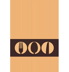 Restaurant menu design whit cutlery symbols on car vector image