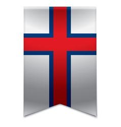 Ribbon banner - faroese flag vector image
