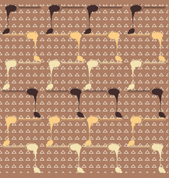 rows of melting chocolate spoons on triangle vector image