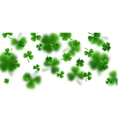 saint patricks day border with green four and vector image