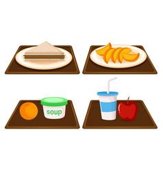 set of breakfast meal vector image