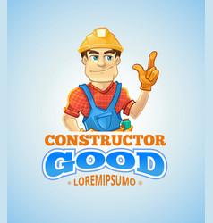 Set of builders or handymans in action vector