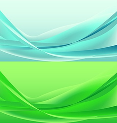 Set of waves abstract vector