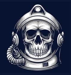 Skull helmet astronaut vector