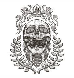 skull usaskull bandana usa flag vintage ill vector image