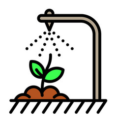 Smart irrigation icon outline style vector