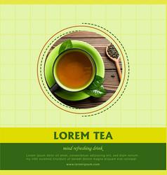 social media tea ad vector image