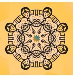 Stylized round lace design Indian mandala arabic vector