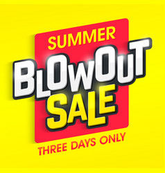 Summer blowout sale banner vector