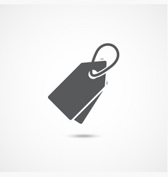 tag flat icon vector image