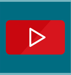 video player play icon flat style vector image
