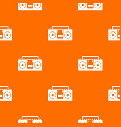 vintage tape recorder pattern seamless vector image