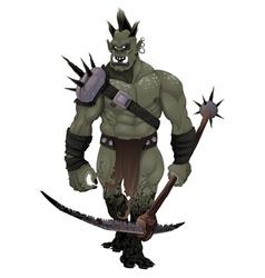 Warrior ogre vector