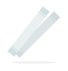 white sugar sticks vector image