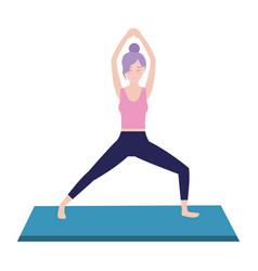 Woman and yoga vector