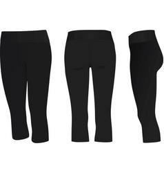 Women three quarter pants vector