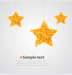 abstract bright yellow star background vector image