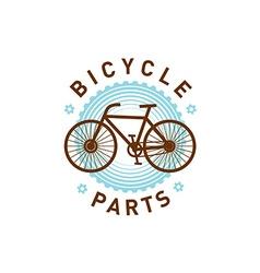 Bicycle logo vector image vector image