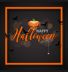 happy halloween with pumpkin vector image vector image