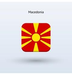 Macedonia flag icon vector