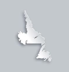 Map of newfoundland and labrador vector