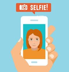 Selfie concept vector