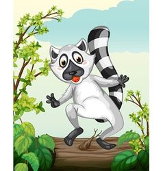 A Lemur in a green nature vector image vector image