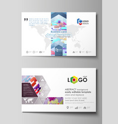 Business card templates abstract design vector