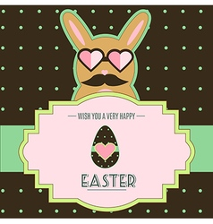 Easter bunny card vector image vector image