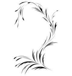 Floral tatto design vector image vector image