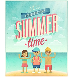 summer time sea vector image vector image
