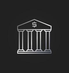 bank silver icon vector image vector image