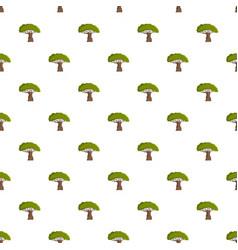 Baobab tree pattern seamless vector