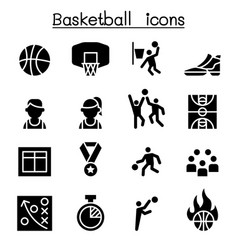 Basketball icon set graphic design vector