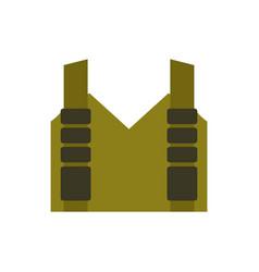 Bulletproof vest isolated protective uniform vector
