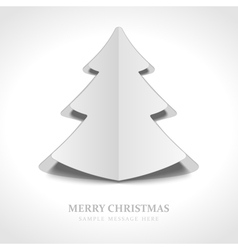 Christmas tree from cut paper vector image vector image