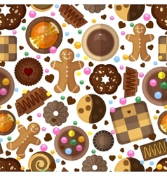 Cookies background for christmas and birthday vector image vector image