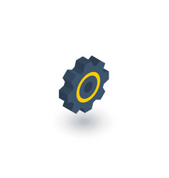 gear mechanism isometric flat icon 3d vector image