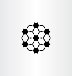 geometric circles black icon design element vector image vector image