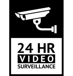 label CCTV symbol vector image