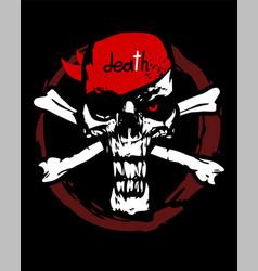 scary crossbones symbol vector image