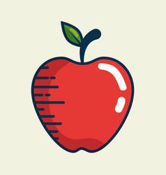 apple fresh fruit handmade drawn vector image vector image