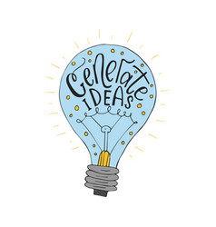 generate ideas business llustration wit vector image