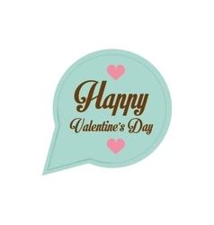 happy valentines day card bubble hearts vector image vector image