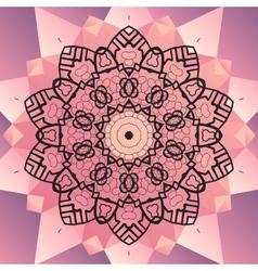 Ornament beautiful mandala chakra flower of pink vector image vector image