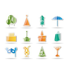 party and holidays icons vector image